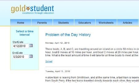 Problem of the Day History